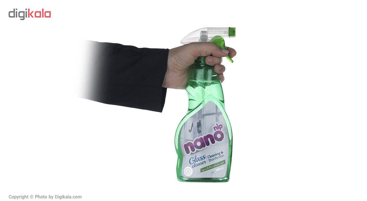 شیشه پاک کن سبز نانو نیپ حجم 500 میلی لیتر main 1 3