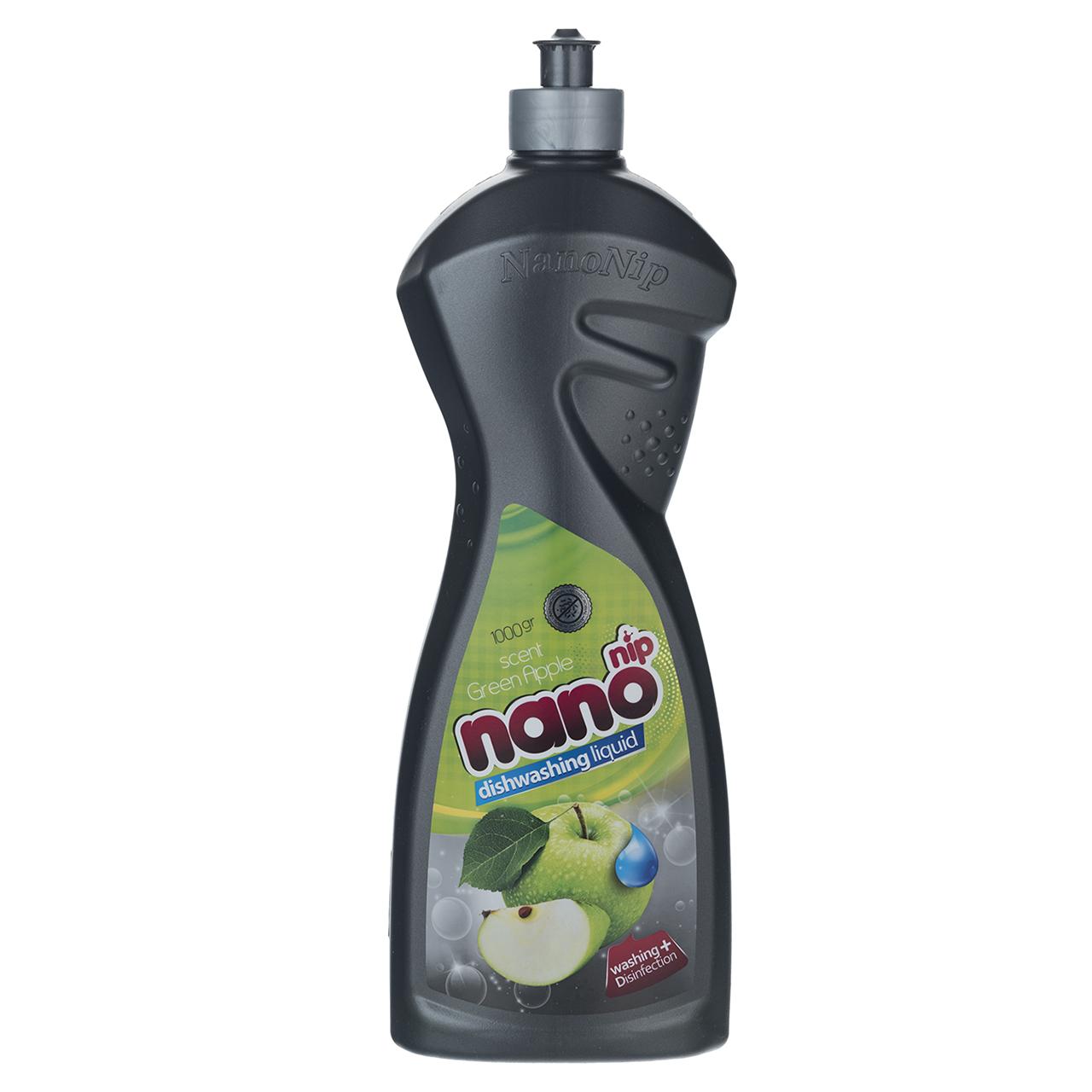 مایع ظرفشویی نانو نیپ مدل Green Apple مقدار 1000 گرم