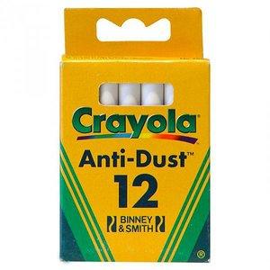 گچ سفید کرایولا مدل Anti Dust بسته 12 عددی
