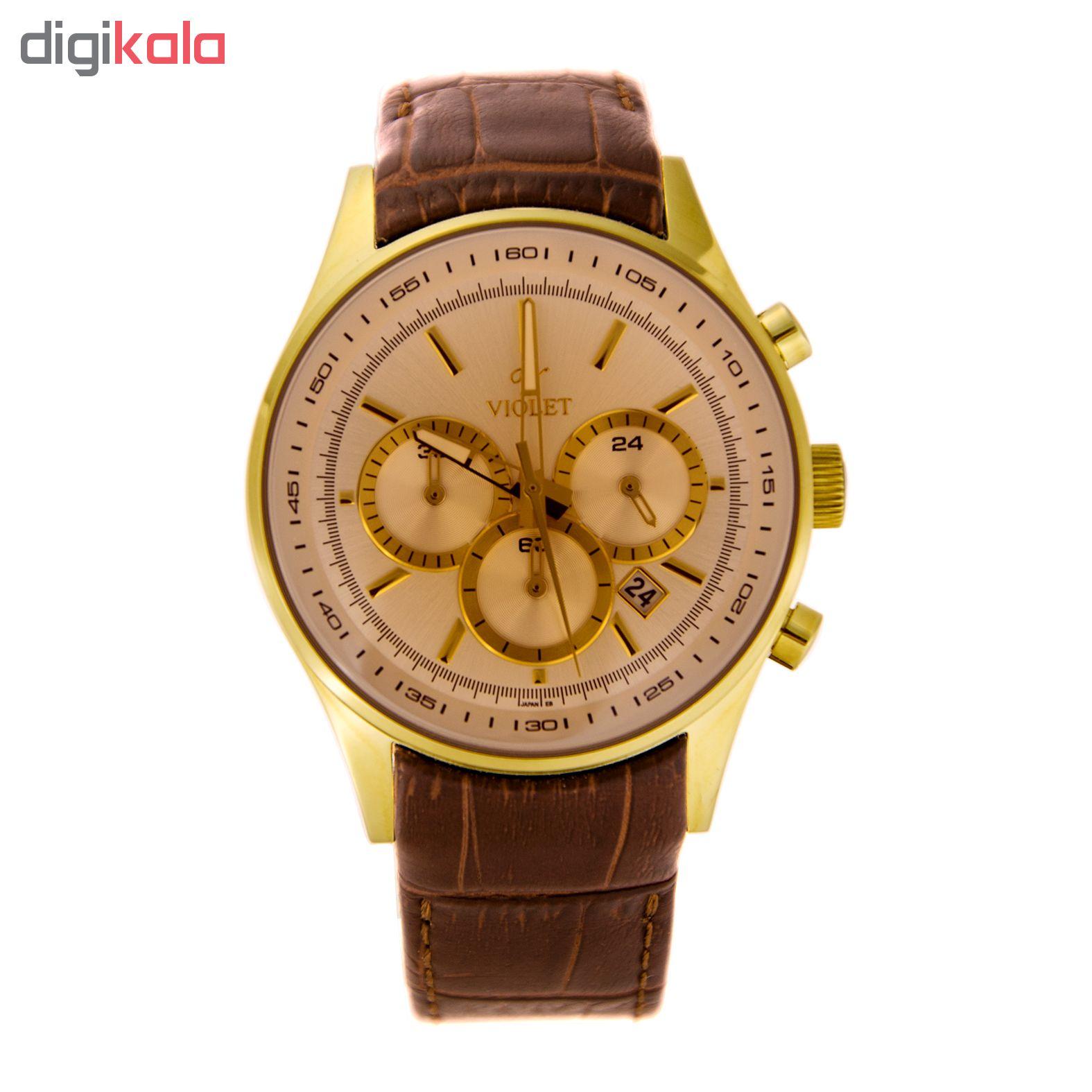 خرید ساعت مچی عقربه ای مردانه ویولت مدل 0271G