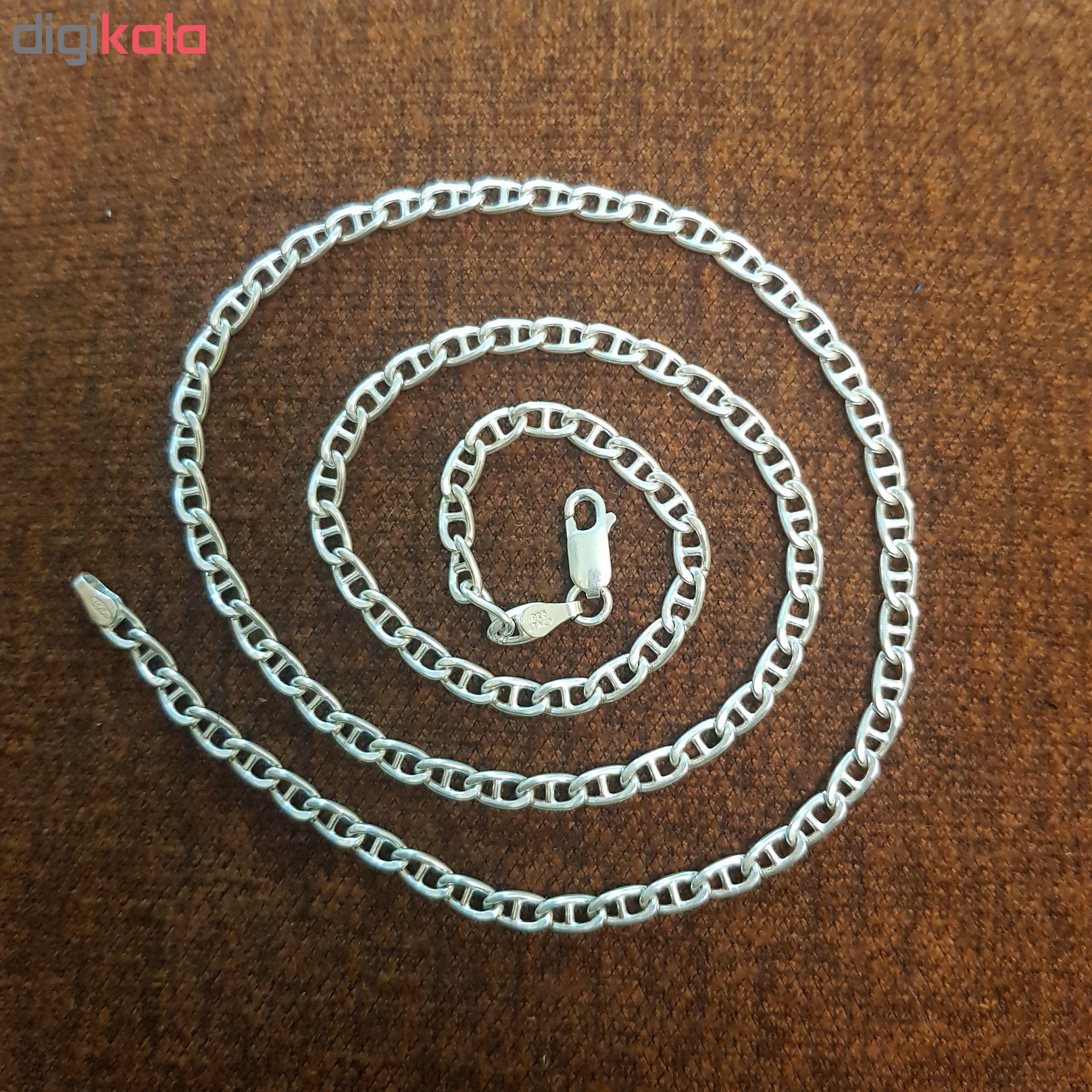 زنجیر نقره مردانه مدل SZ-1001