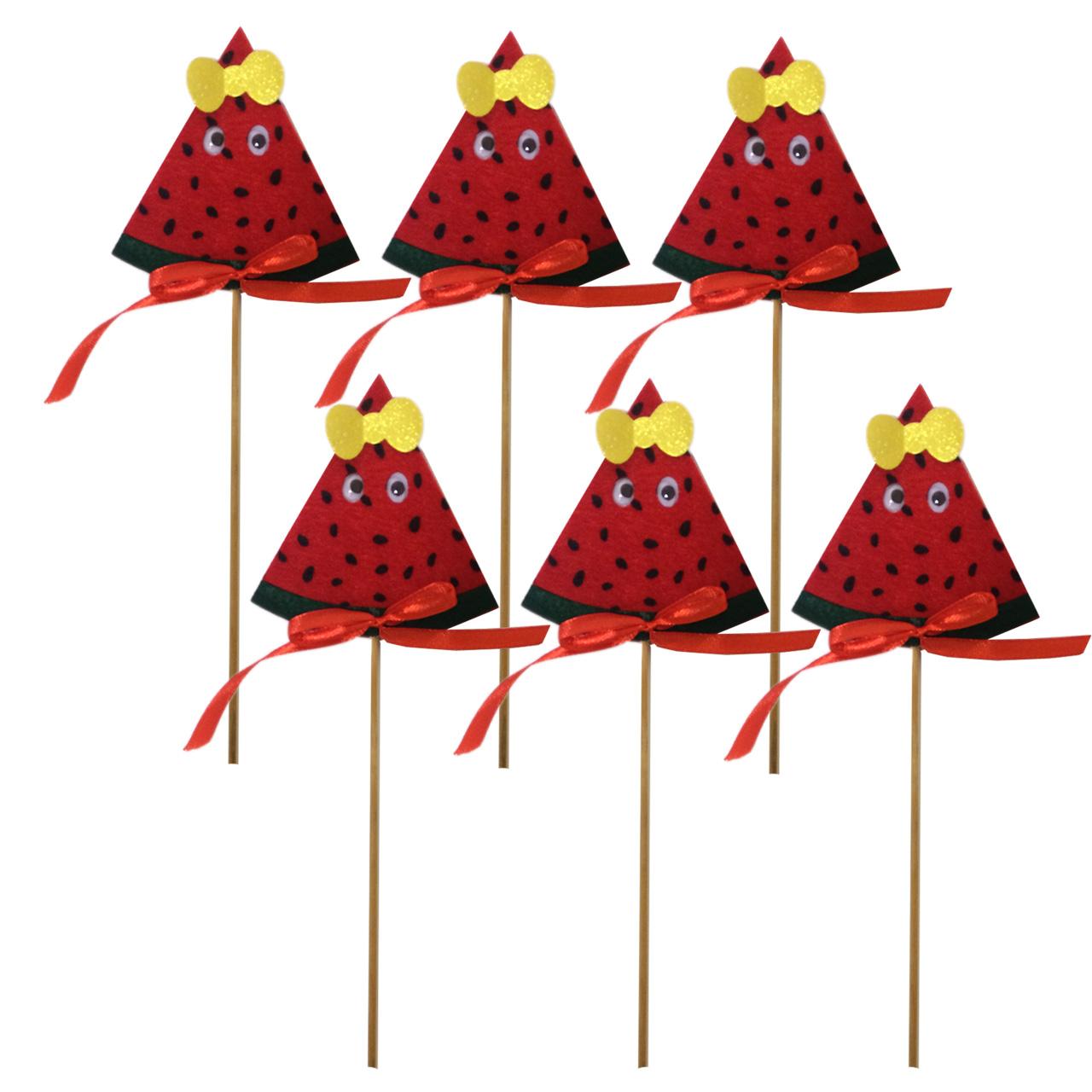 عکس تاپر هندوانه شب یلدا مدل Yalda Watermelon مجموعه 6عددی