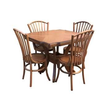 ست میز ناهار خوری و صندلی چوبی اسپرسان چوب مدل z07  
