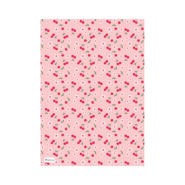 کاغذ کادو آلما طرح شکوفه ی گیلاس مدل PNRE040 بسته 5 عددی