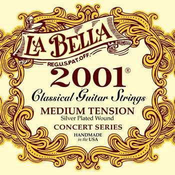 سیم گیتار کلاسیک لا بلا مدل 2001 Medium Tension