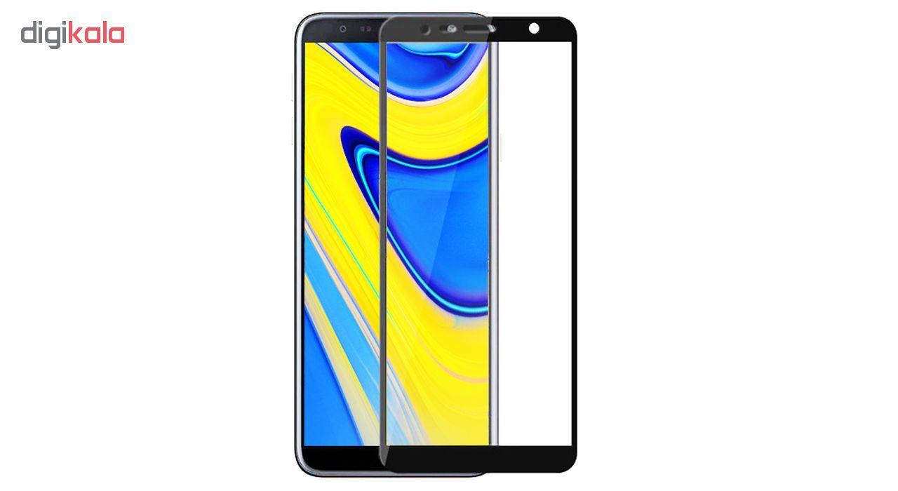 محافظ صفحه نمایش شیشه ای مدل Full مناسب برای گوشی موبایل سامسونگ Galaxy J6 Plus 2018 main 1 1