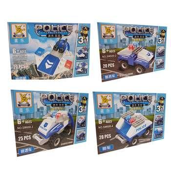 ساختنی سری پلیس مدل SM600  مجموعه 4 عددی