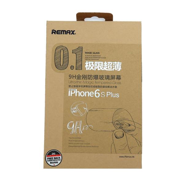 محافظ صفحه نمایش شیشه ای ریمکس مدل 0.1mm مناسب برای  iPhone 6 Plus