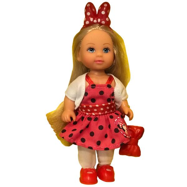 عروسک سیمبا مدل Evi Love Minnie Mouse Fashion Dress ارتفاع 12 سانتی متر