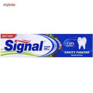 خمیر دندان سیگنال مدل Cavity Fighter Herbal Extract حجم 100 میلی لیتر