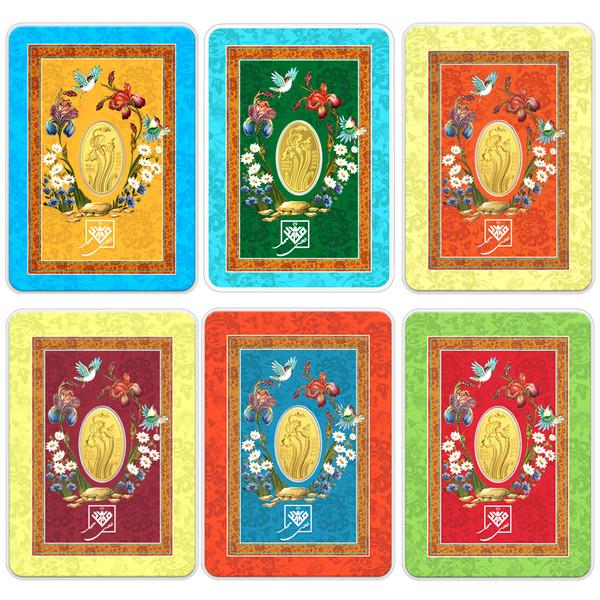 پلاک طلا 24 عیار طلای محمد طرح گل زنبق مجموعه 6 عددی