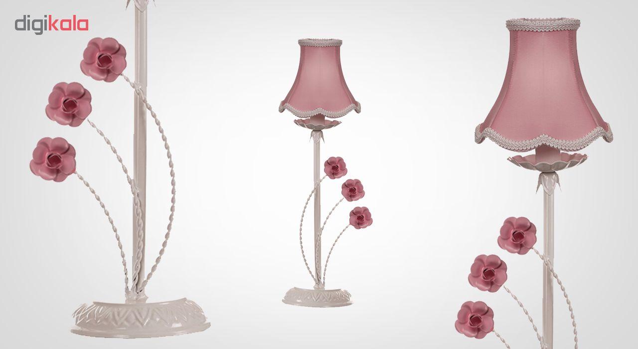آباژور رومیزی فورژسازان مدل رز سه گل