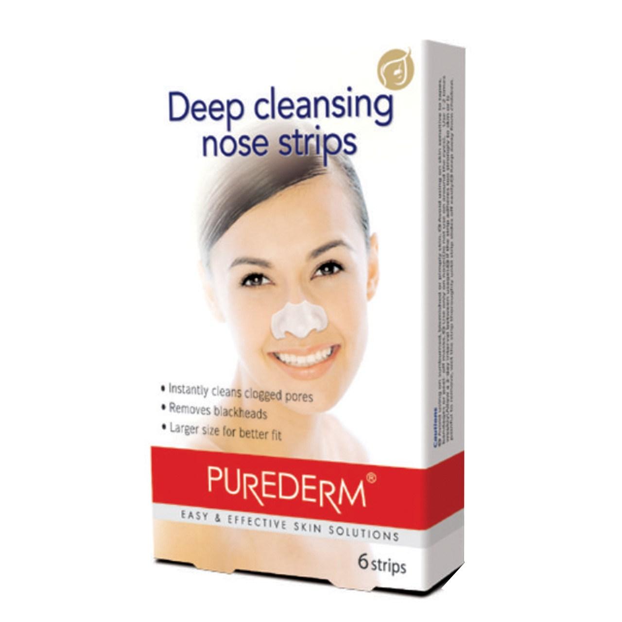 چسب پاک کننده بینی پیوردرم مدل Deep Cleansing بسته 6 عددی