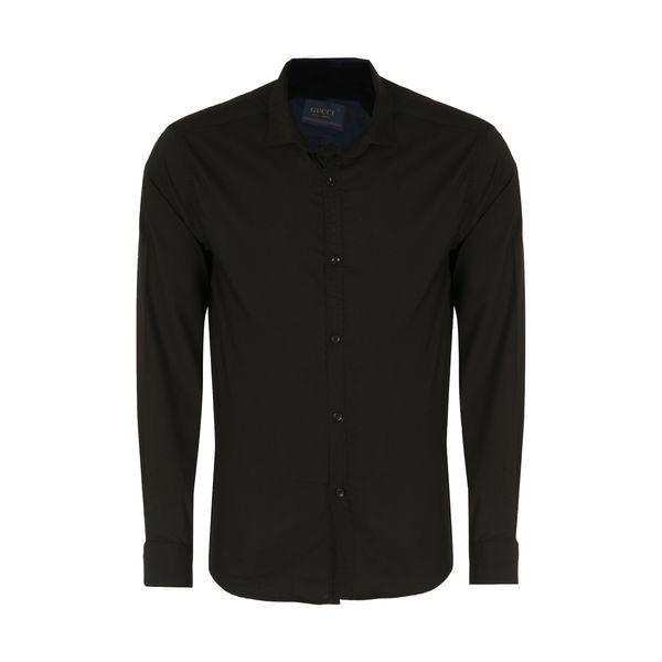 پیراهن آستین بلند مردانه کد PVLF BL-MIR-9906 رنگ مشکی