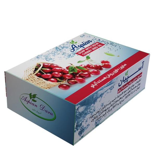 صابون شستشو آسپیان دارو مدل Sour cherry seed oil وزن 110 گرم