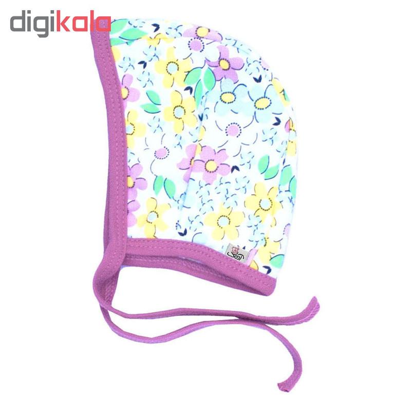کلاه بندی آدمک طرح گلهای رنگارنگ کد 02
