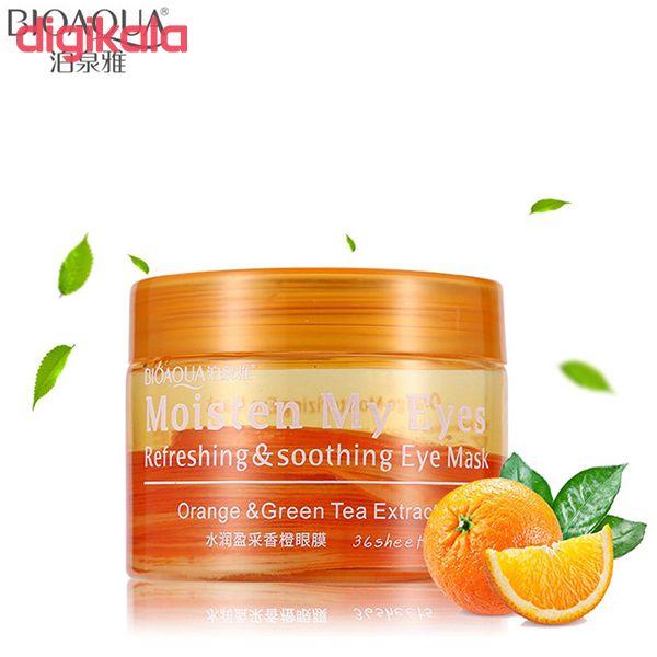 ماسک دور چشم بایو آکوا مدل Orange & Green Tea بسته 36 عددی main 1 2