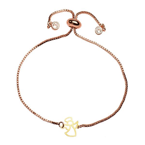 دستبند طلا 18 عیار دخترانه کرابو طرح فرشته مدل Krd1063