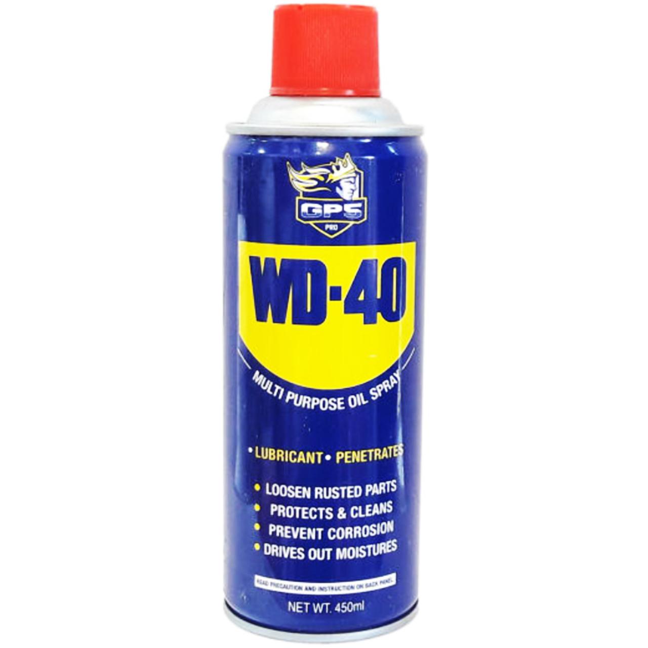 اسپری روان کننده جی پی اس گل پخش مدل WD-40 حجم 450 میلی لیتر