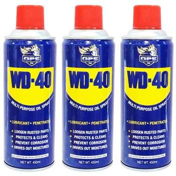 اسپری روان کننده جی پی اس گل پخش مدل WD-40 حجم 450 میلی لیتر بسته 3 عددی |