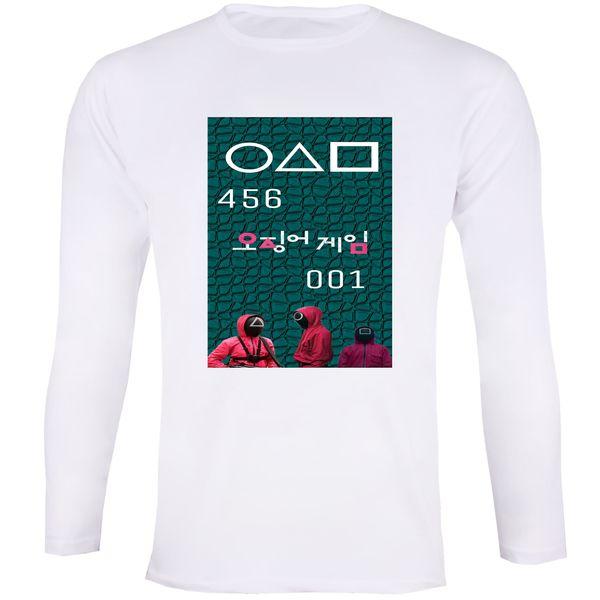 تی شرت آستین بلند زنانه مدل بازی مرکب Squid Game 015