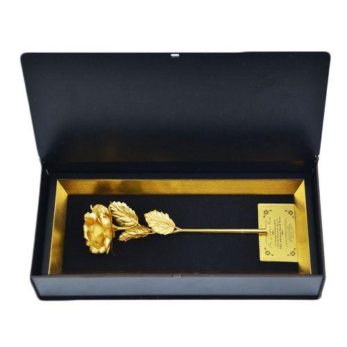 گل رز روکش طلای 24 عیار مدل A9701