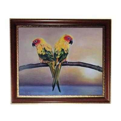 Photo of تابلو نقاشی مداد رنگی لوح هنر طرح طوطی کد 739