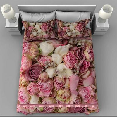 سرویس خواب مدل گل رز دونفره 7 تکه
