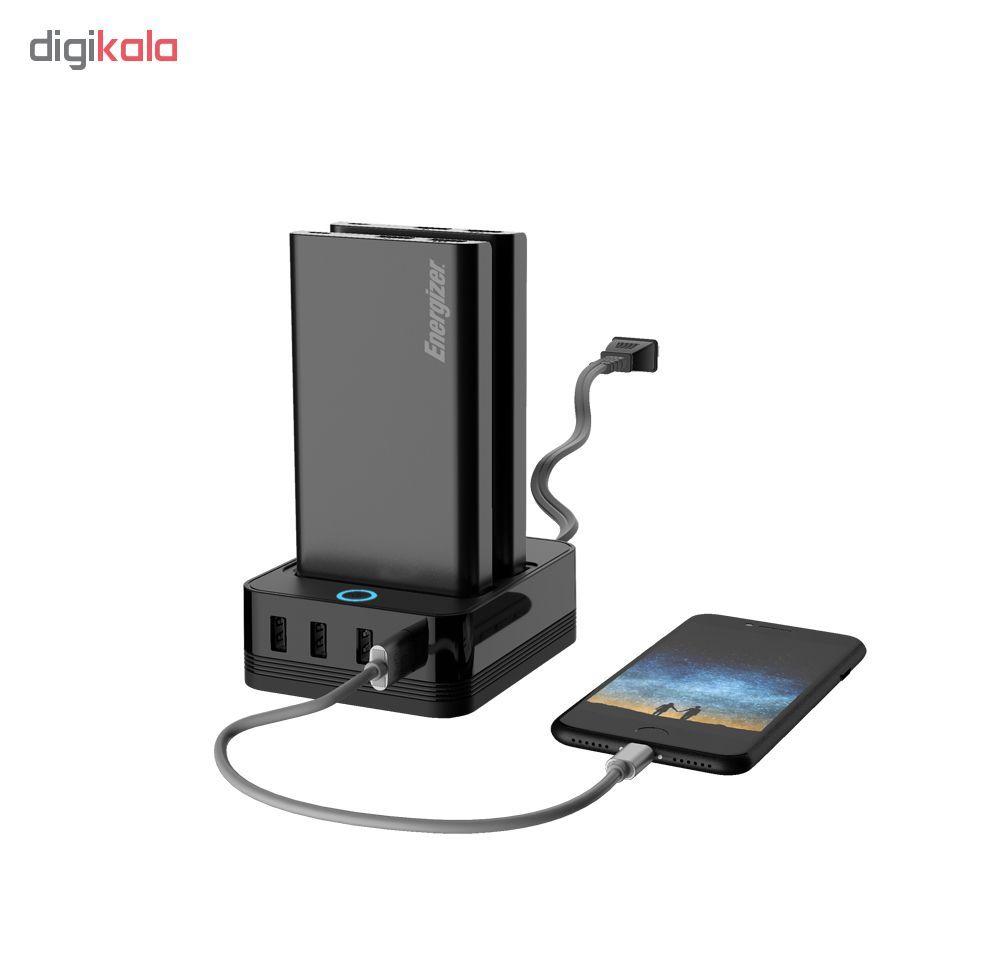 شارژر همراه انرجایزر به همراه پایه شارژ مدل PS20000 ظرفیت 20000 میلی آمپر ساعت main 1 2