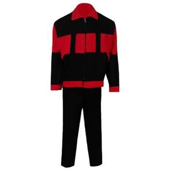 لباس کار مهندسی سبلان مدل سیلوری مشکی قرمز
