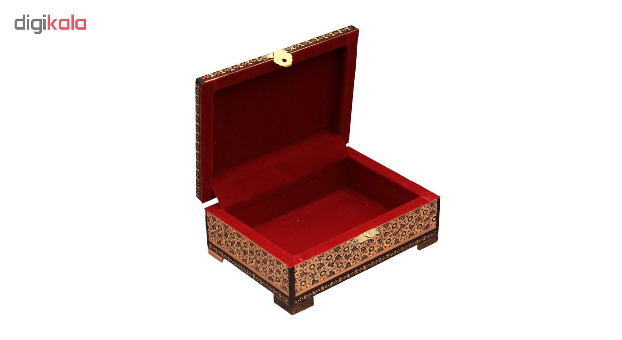 خرید                      جعبه جواهرات خاتم کاری کد 6-70061