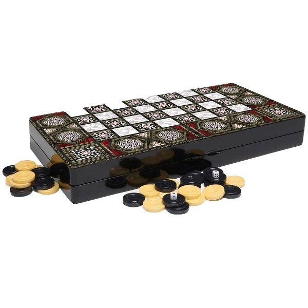 صفحه شطرنج و تخته نرد طرح صدف 1
