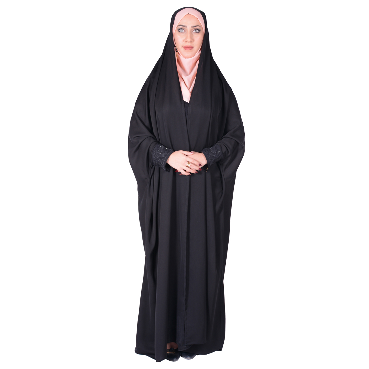 چادر دانشجویی مچدار کرپ کن کن ژرژت شهر حجاب مدل 8050