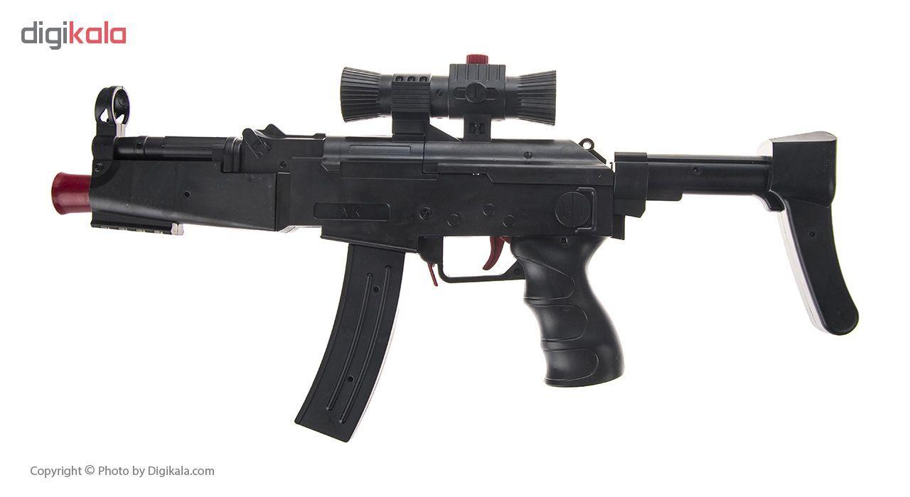 تفنگ اسباب بازی مدل ASSAULT SUBMACHINE GUN کد AK45-1