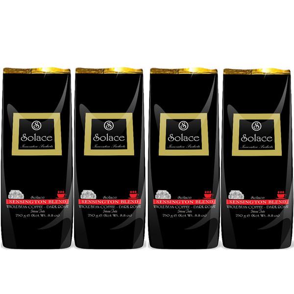 قهوه سولیس مدل KENSINGTON WHOLE BEAN DARK ROAST مجموعه 4 عددی