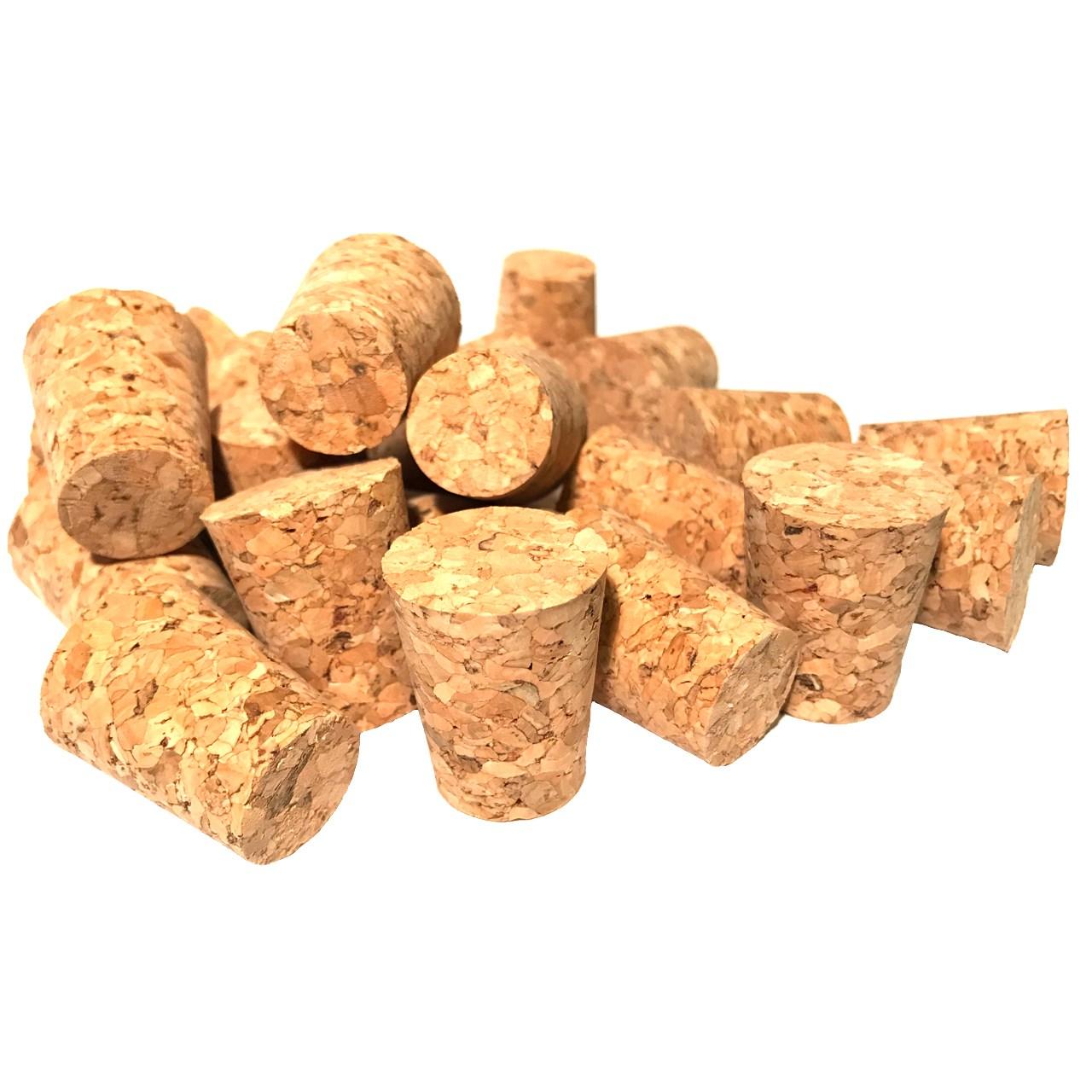 درب بطری چوب پنبه ترکیبی مدل 18-24 - بسته 50 عددی