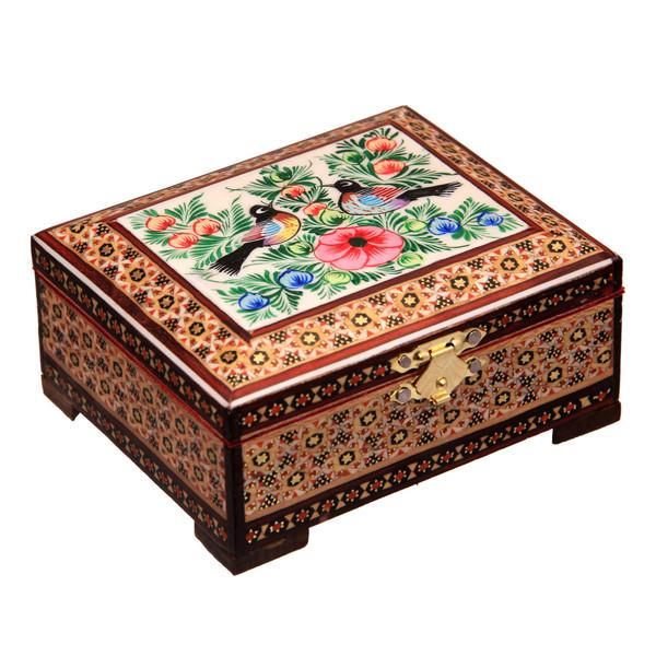 جعبه جواهرات خاتم کاری کد 1-70062