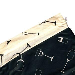 کیسه سبزی چاپی 3 تکه رزین تاژ طرح گلس