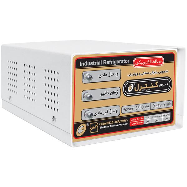 محافظ ولتاژ الکترونیکی نمودار کنترل مدل M110 مناسب یخچال و فریزر صنعتی و ویترینی