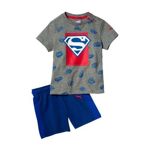 ست تی شرت و شلوارک پسرانه پوما مدل Justice League