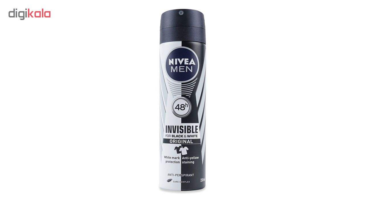 اسپری مردانه نیوآ مدل Invisible Black and White Original حجم 150 میلی لیتر main 1 1