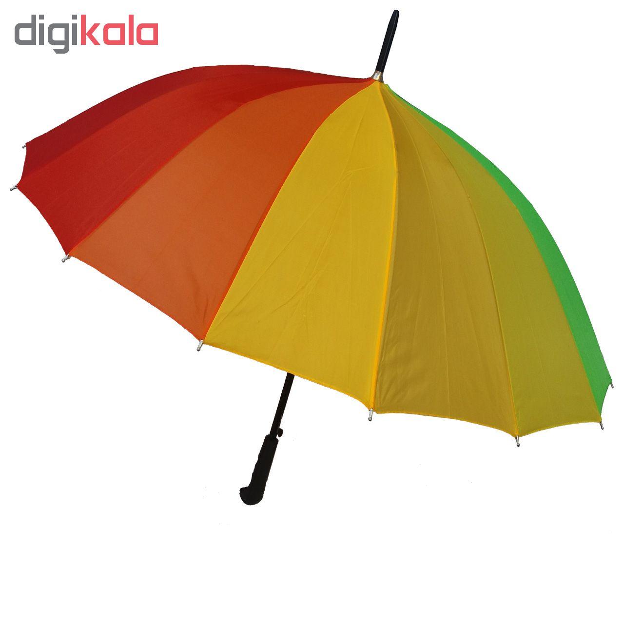 چتر طرح رنگارنگ مدل wt