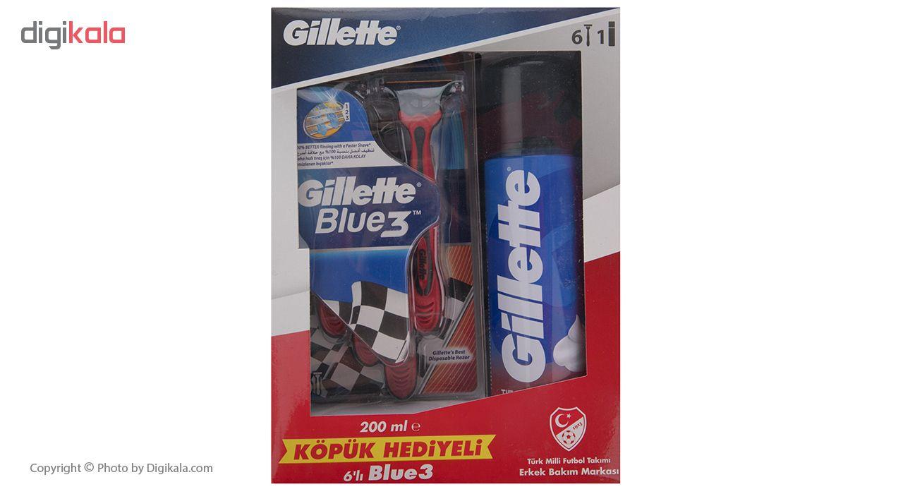 ست اصلاح مدل Blue 3 مجموعه 7 عددی