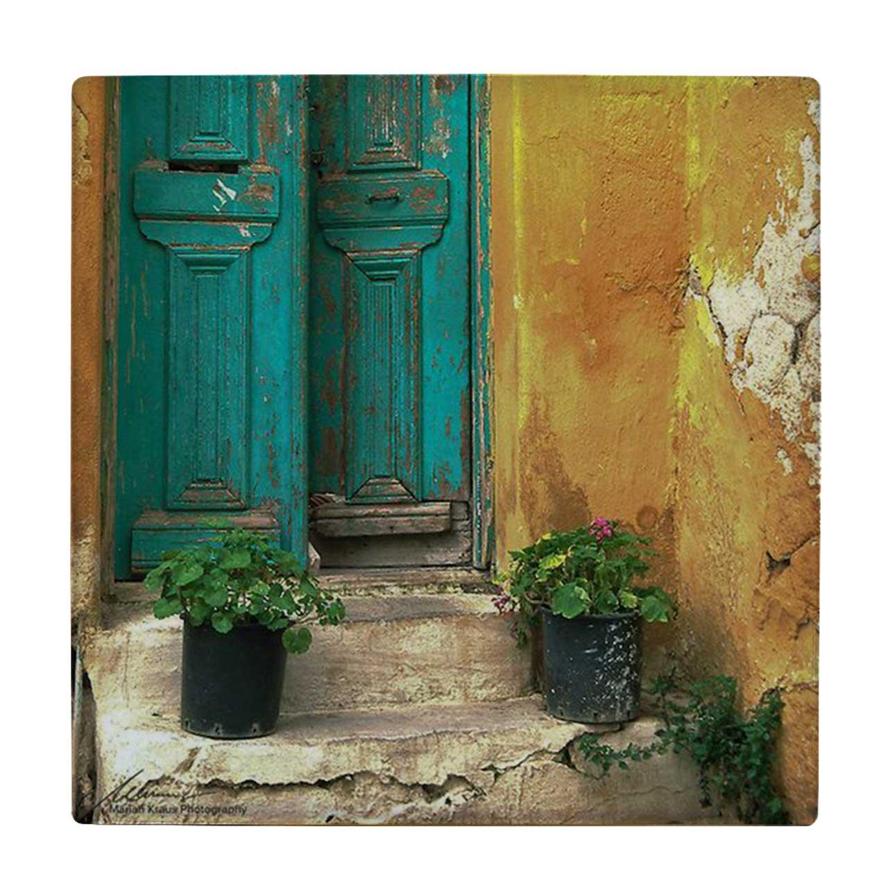 خرید                      کاشی طرح گلدان و خانه قدیمی کد wk1269