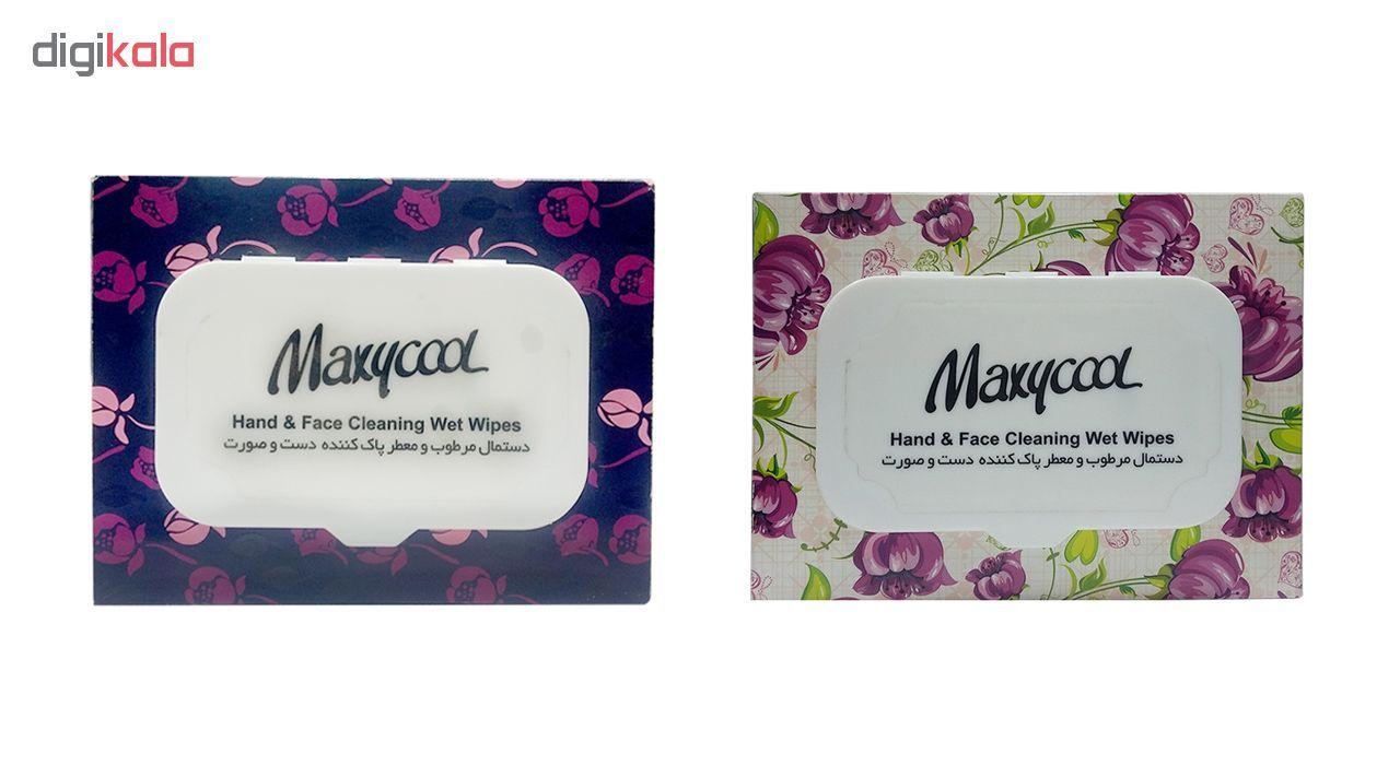 دستمال مرطوب ماکسی کول مدل Face بسته دو عددی main 1 1