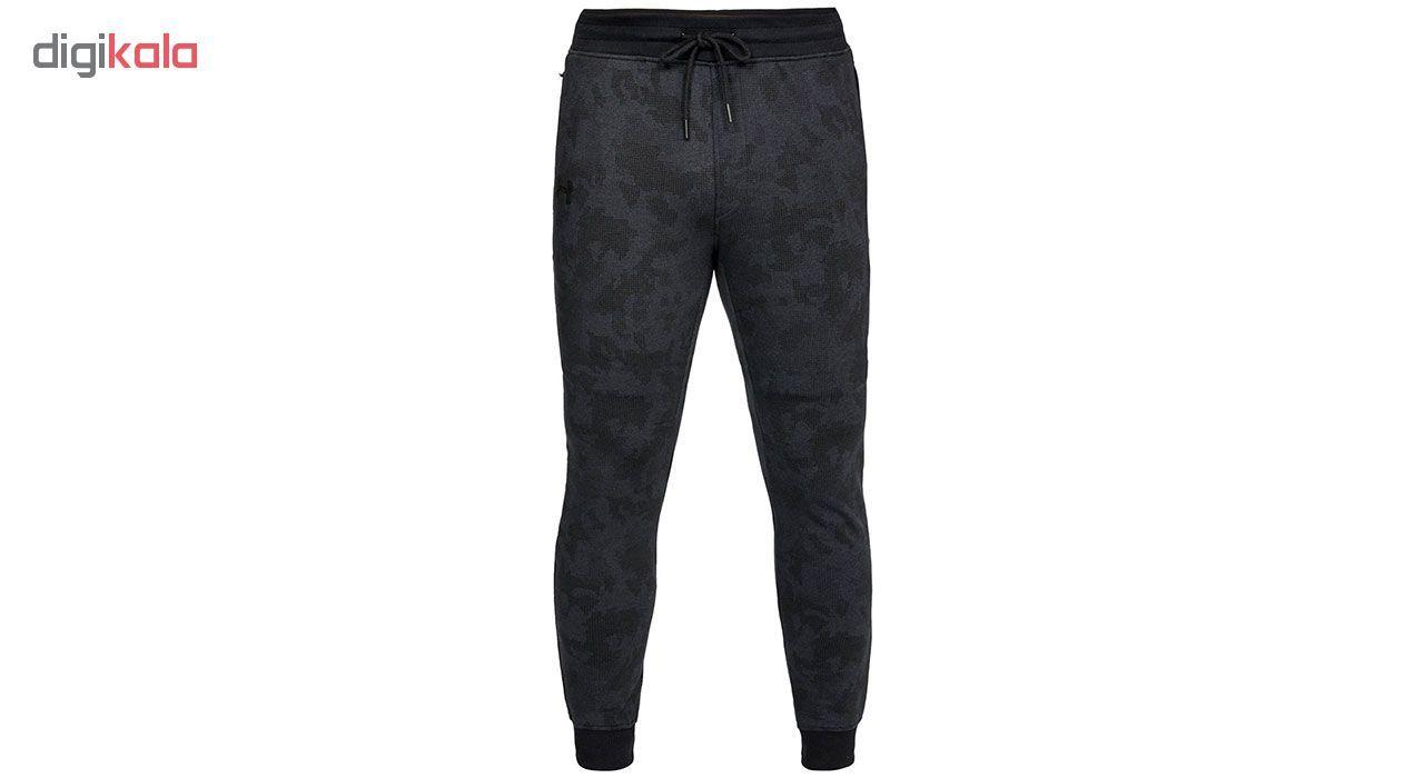 شلوار ورزشی مردانه آندر آرمور مدل Fleece Patterned Stacked -  - 1