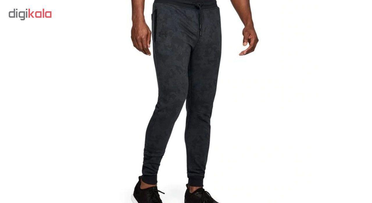 شلوار ورزشی مردانه آندر آرمور مدل Fleece Patterned Stacked -  - 3