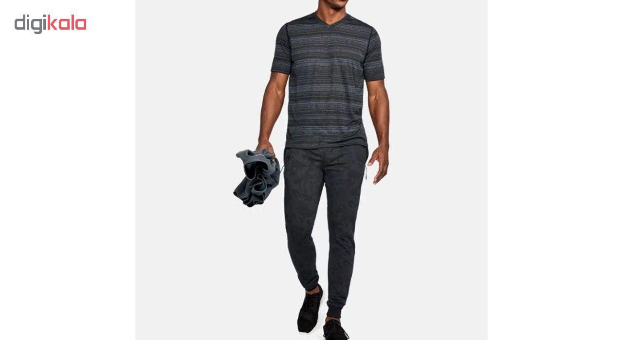 شلوار ورزشی مردانه آندر آرمور مدل Fleece Patterned Stacked -  - 4