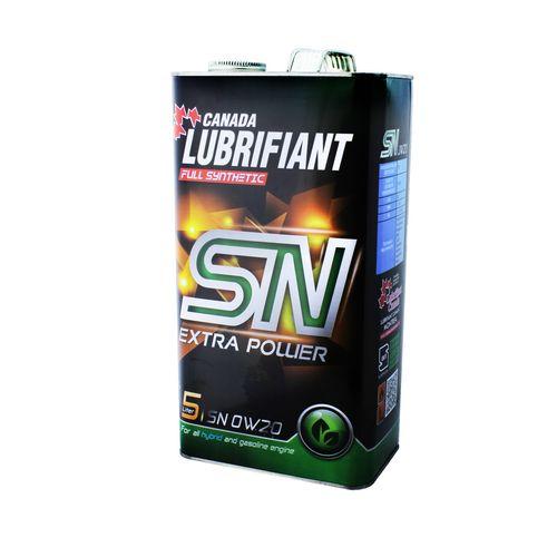 روغن موتور خودرو کانادا لوبریفینت مدل SN 0 W 20 ظرفیت 5 لیتر