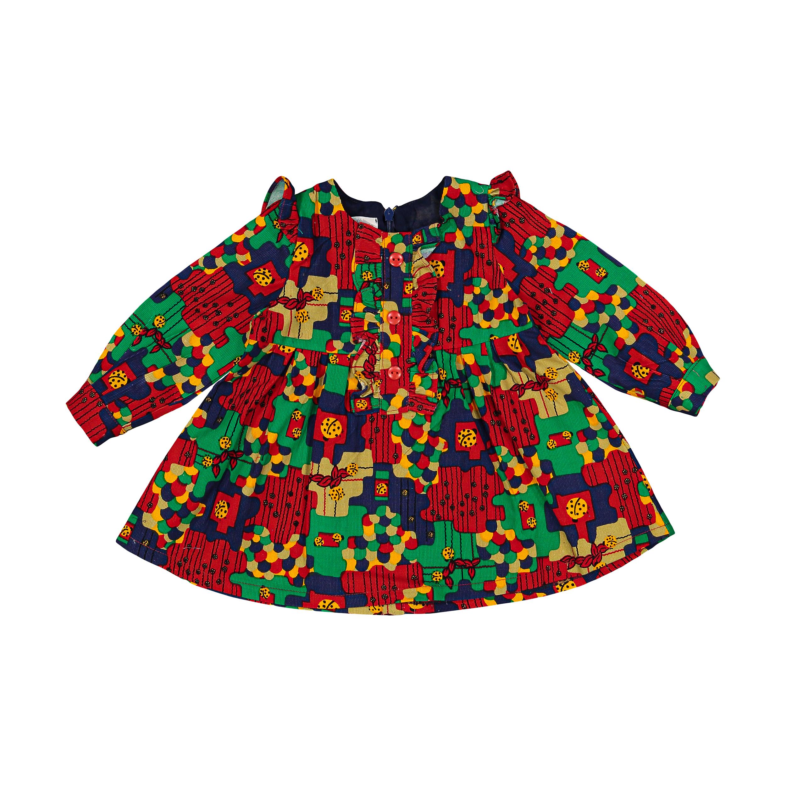 پیراهن نوزادی دخترانه فیورلا کد 20533